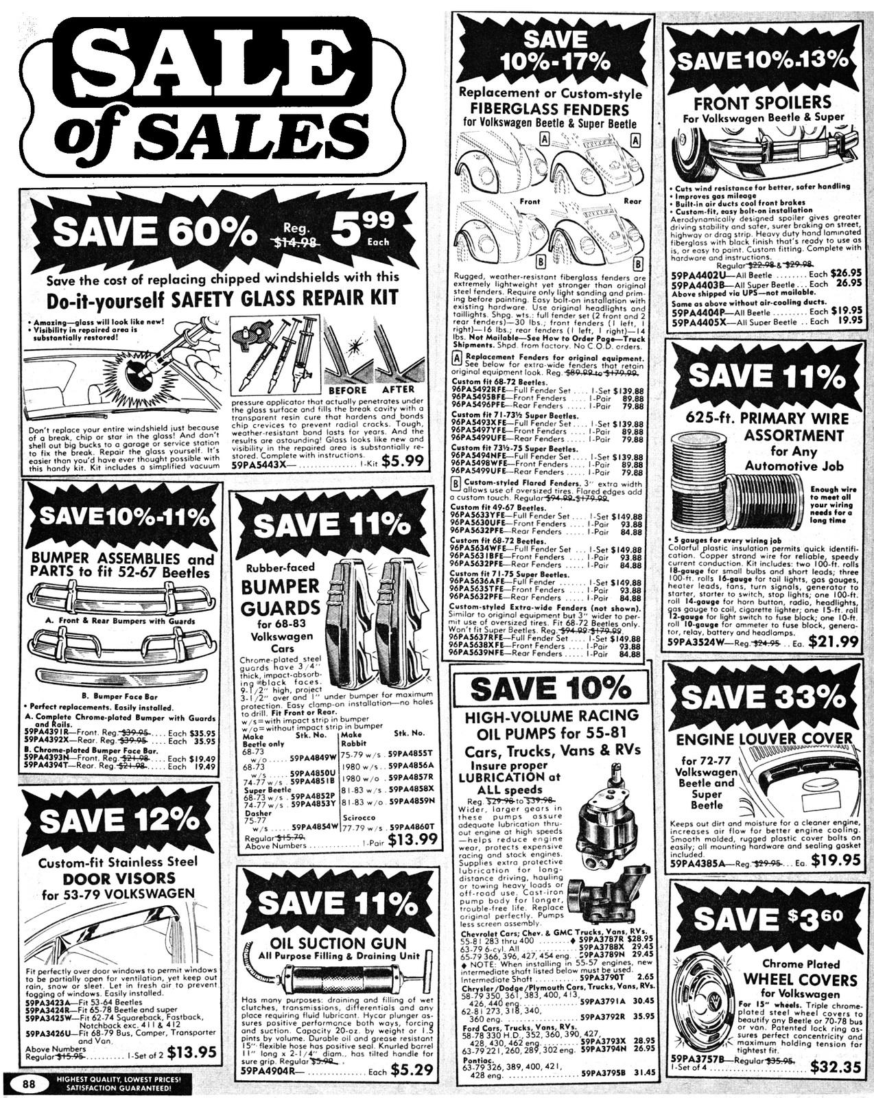 TheSamba com :: Gallery - JC Whitney - Sale of Sales Catalog