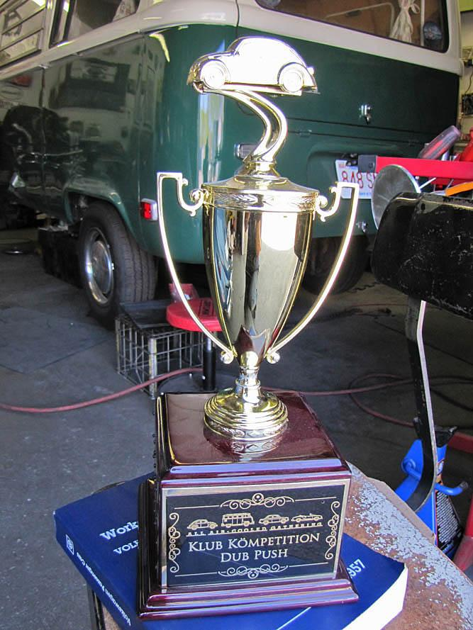 Bug Push trophy from Flanders, NJ all Air-Cooled gathering