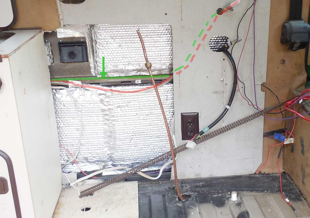 water lines in Westy after TF 65 install