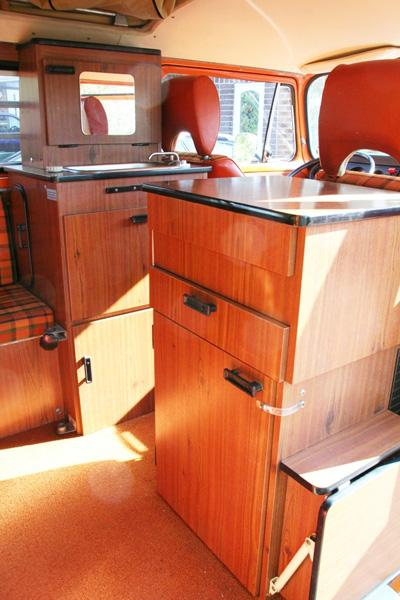 1975 Westy fridge unit & interior