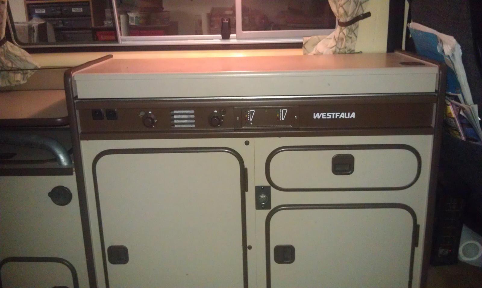brown stove front powder coat and silkscreened