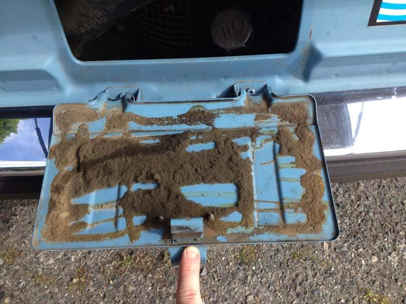 license plate seal-before