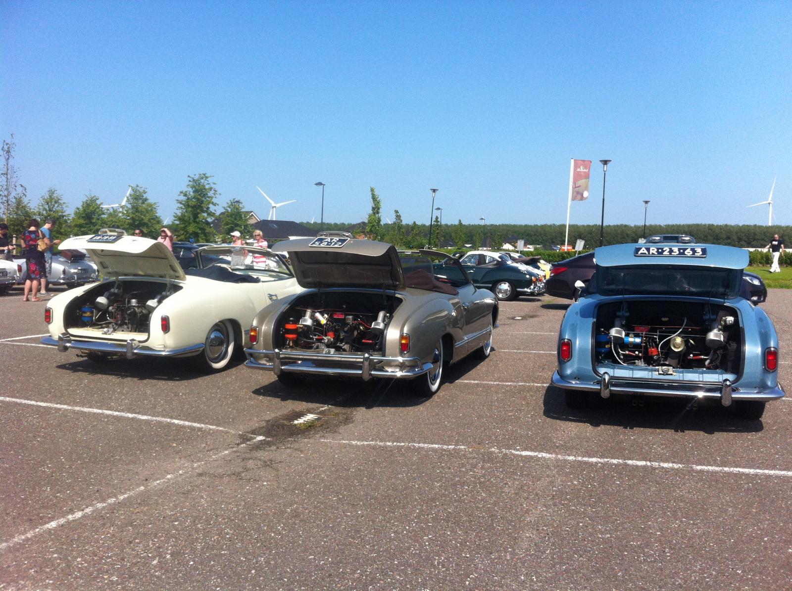 3 LL cabrio with Okrasa in a row