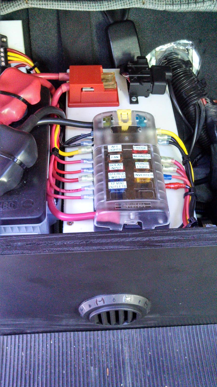 4D battery under back seat