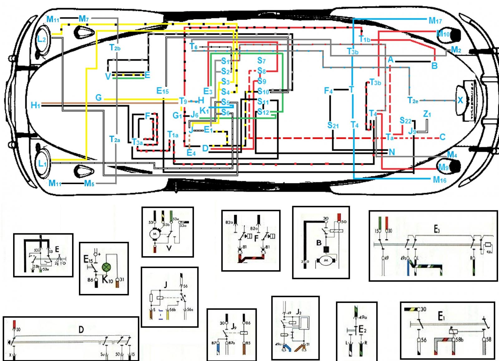 thesamba com beetle late model super 1968 up view topic rh thesamba com 2001 vw beetle wiring diagram for 4 wire fan 2000 vw beetle wiring problems
