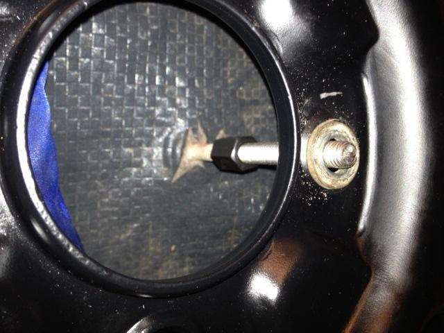 VW Thing spare hold down