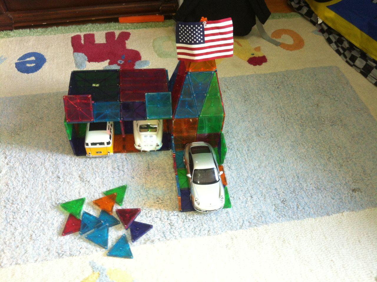 My 6 year olds garage