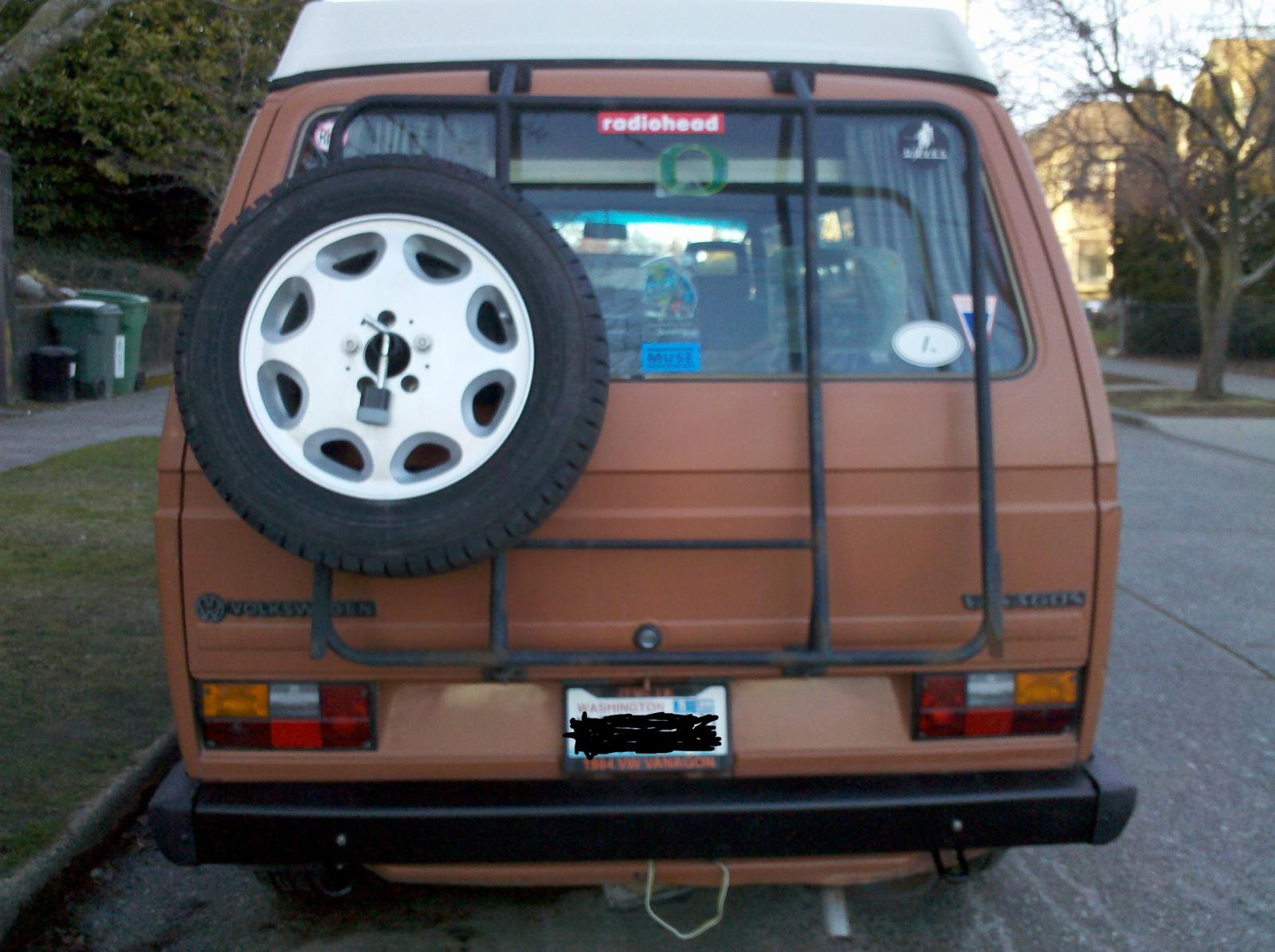 Rear Mounted Spare Tire
