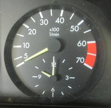 Mercedes tach/clock for bus