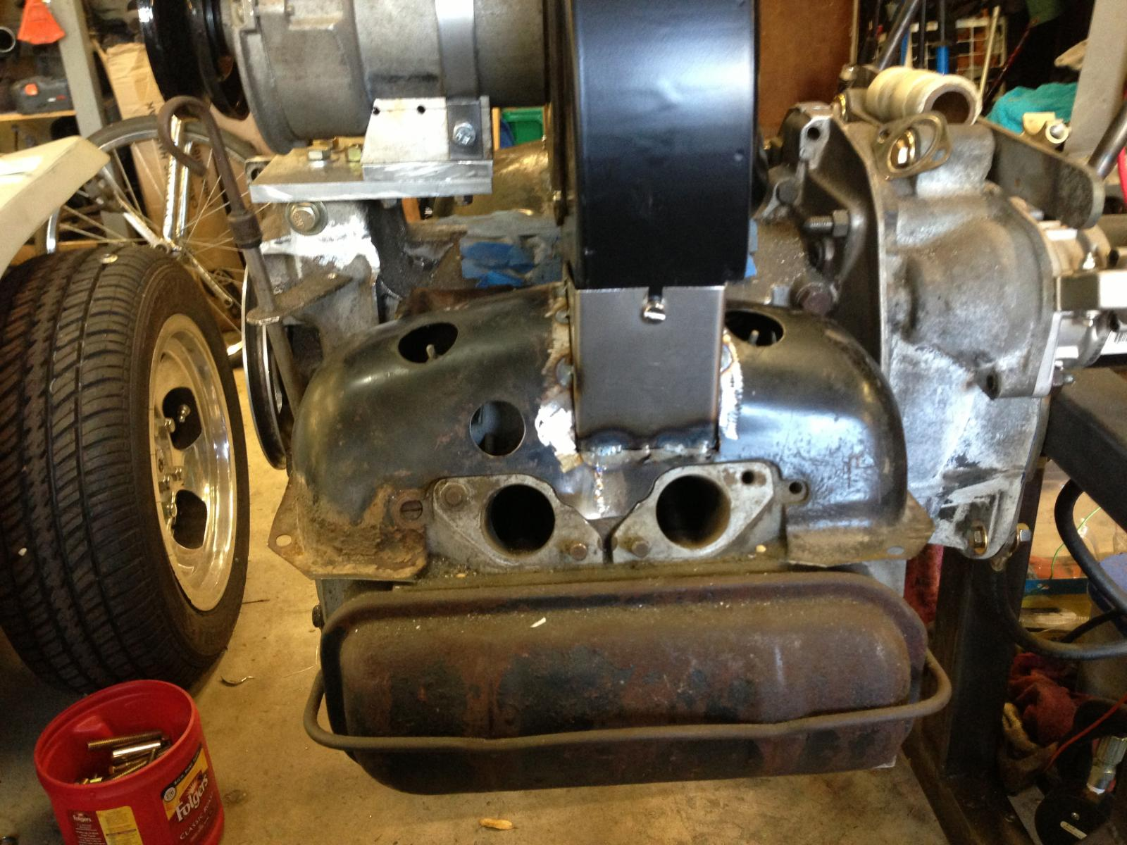 TheSamba com :: Gallery - Type 4 motor for my son's Ghia  Getting