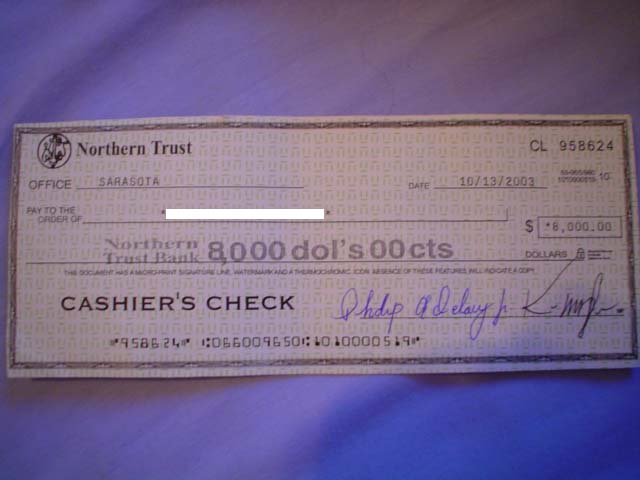 FRAUD check from Mr. Michael Kane