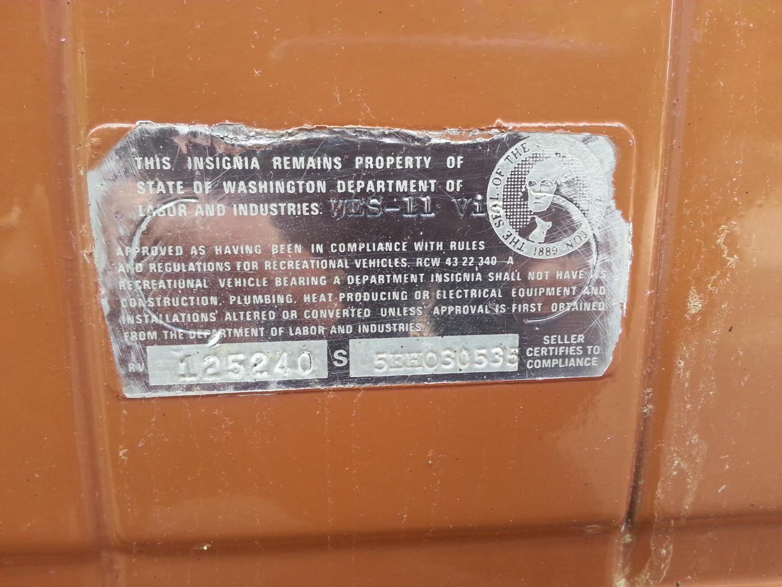 1984 Vanagon Westy Serial Numbers