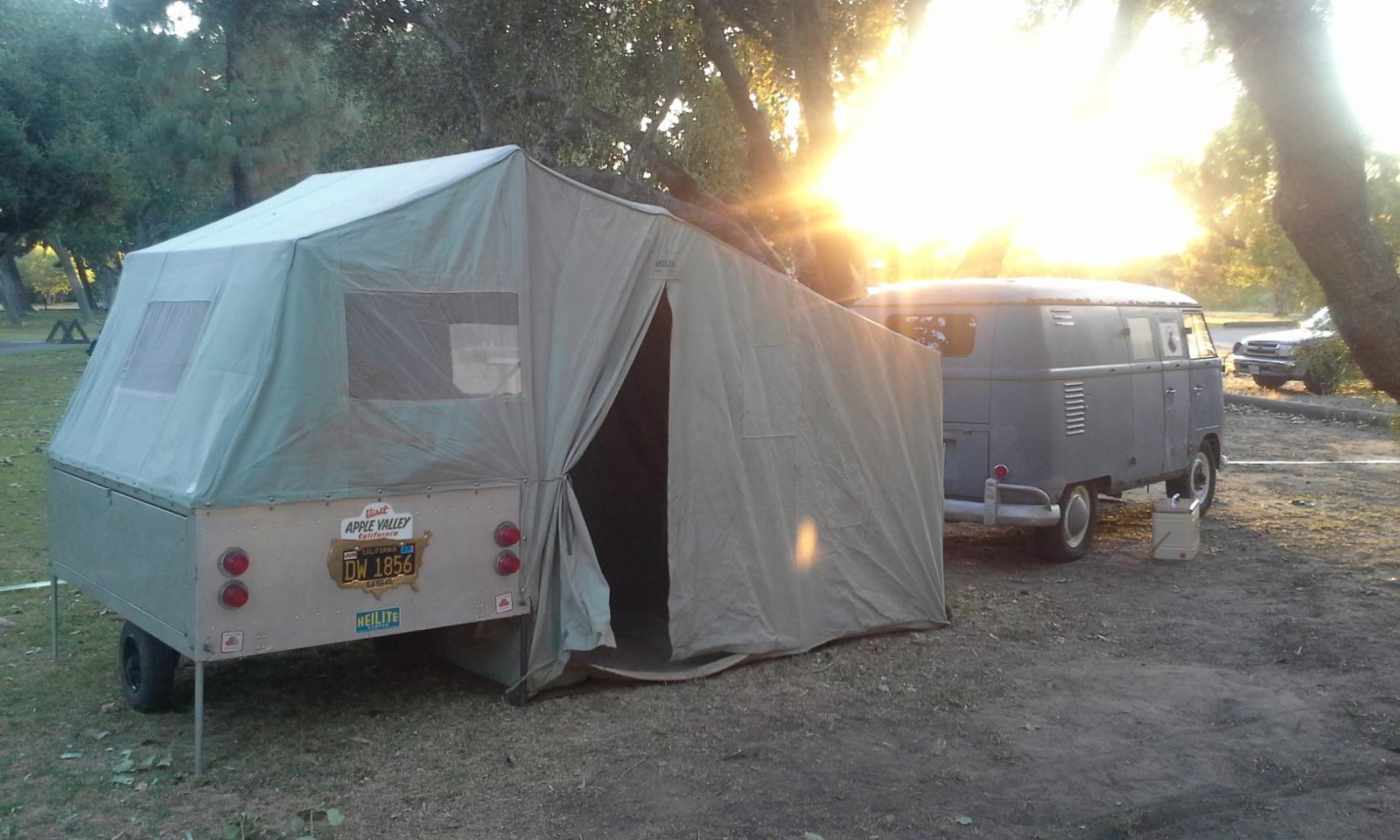my 1961 double door panel and heilite tent trailer.