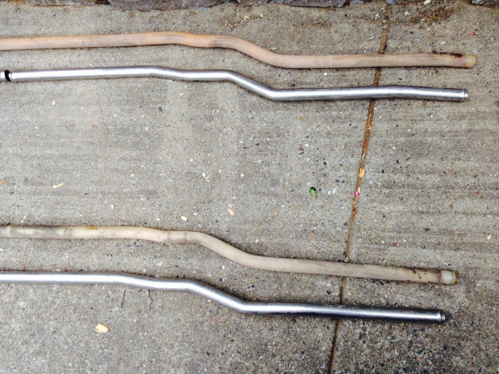Stainless coolant pipes