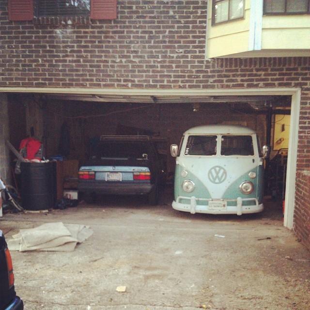 My Bus, finally in a garage