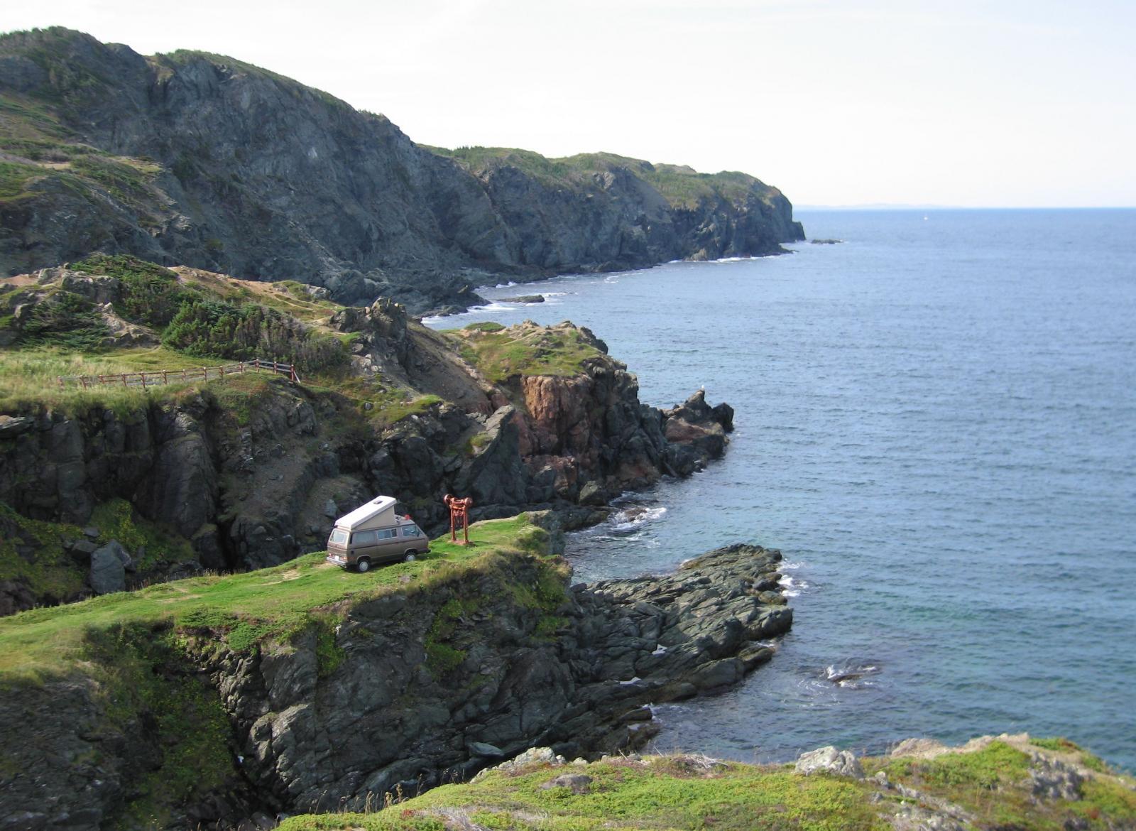 Vanagon in Newfoundland near Twillingate