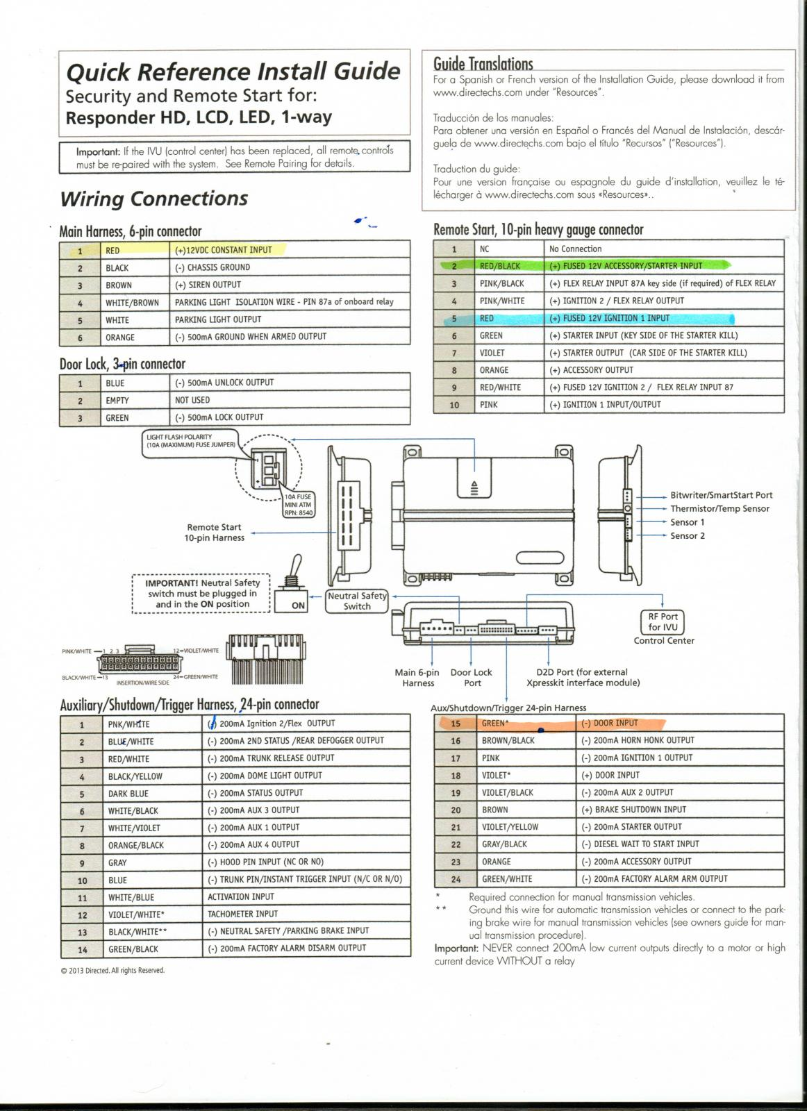Wiring Diagram For Viper 5701v | Wiring Liry on