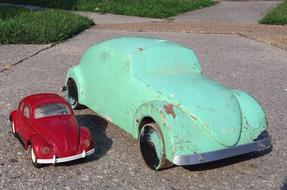 Carved Wooden '50s? Beetle