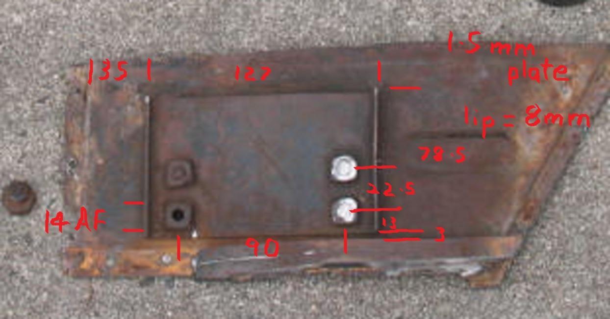RHD oval pedal mount plate