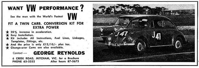 george renolds twin carb kit add circa 65