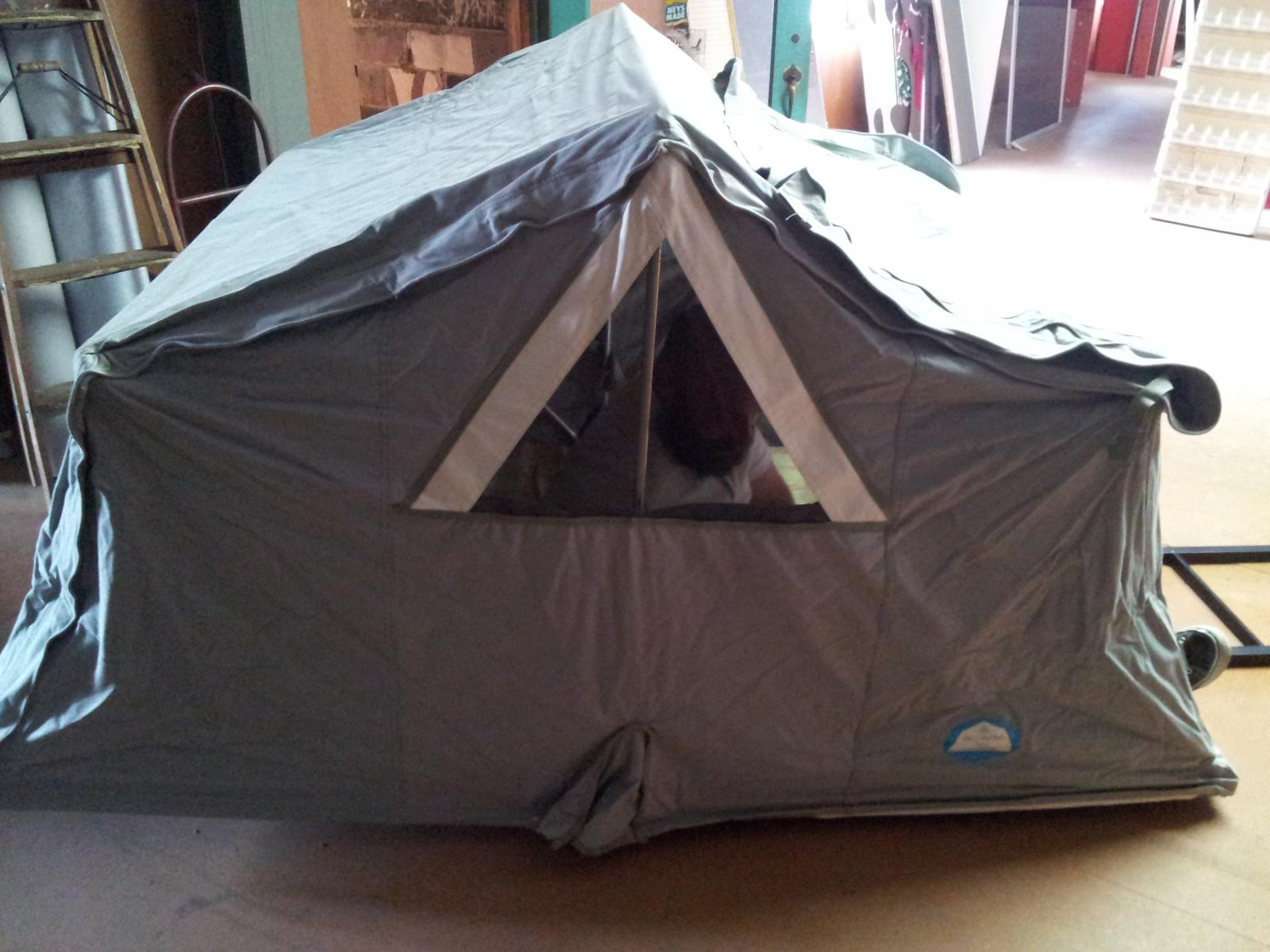 Air Camping vintage roof top tent.