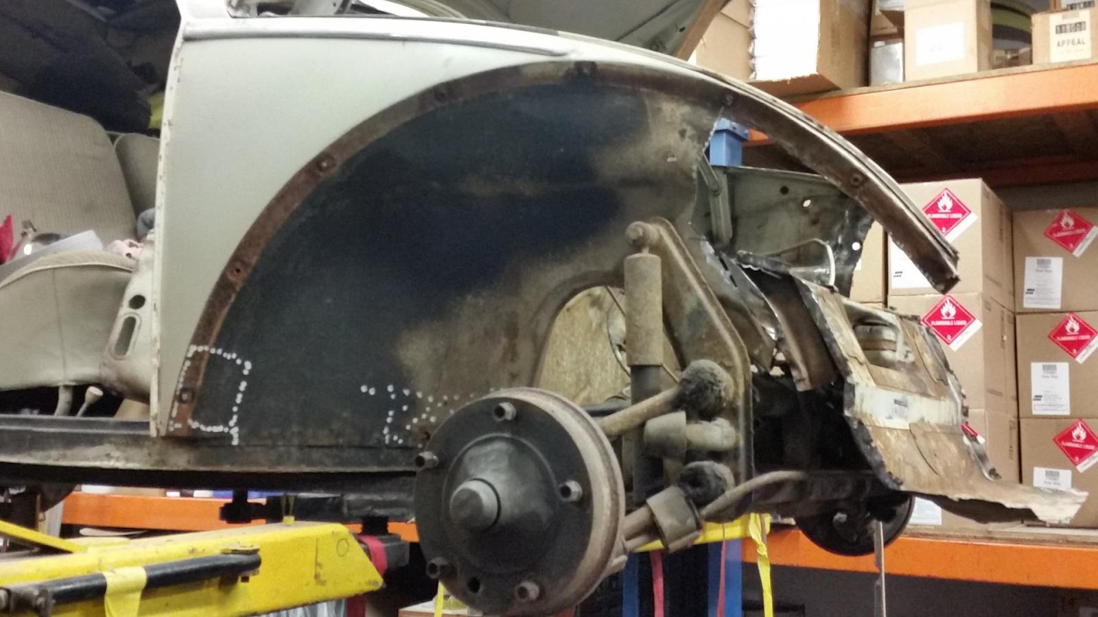 1961 VW Rag Top Repair