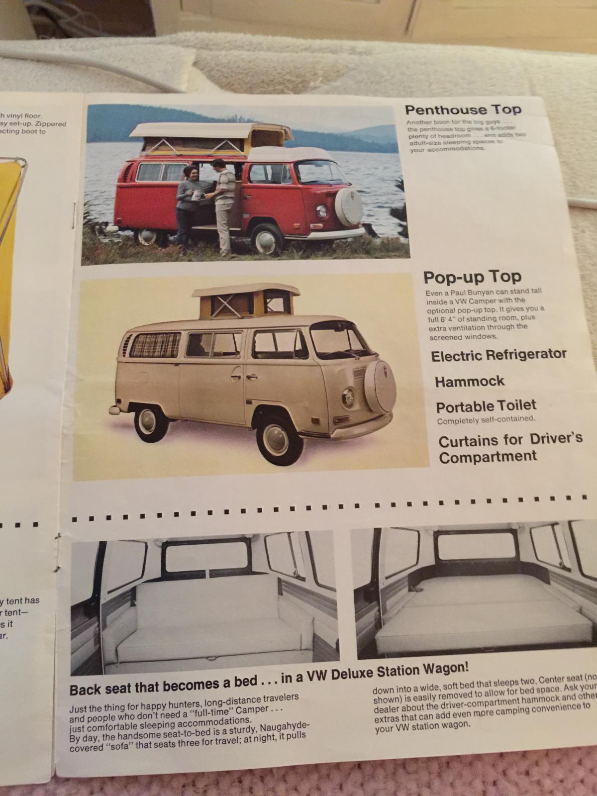 1970 ASI/Riviera Camper Brochures/catalogs