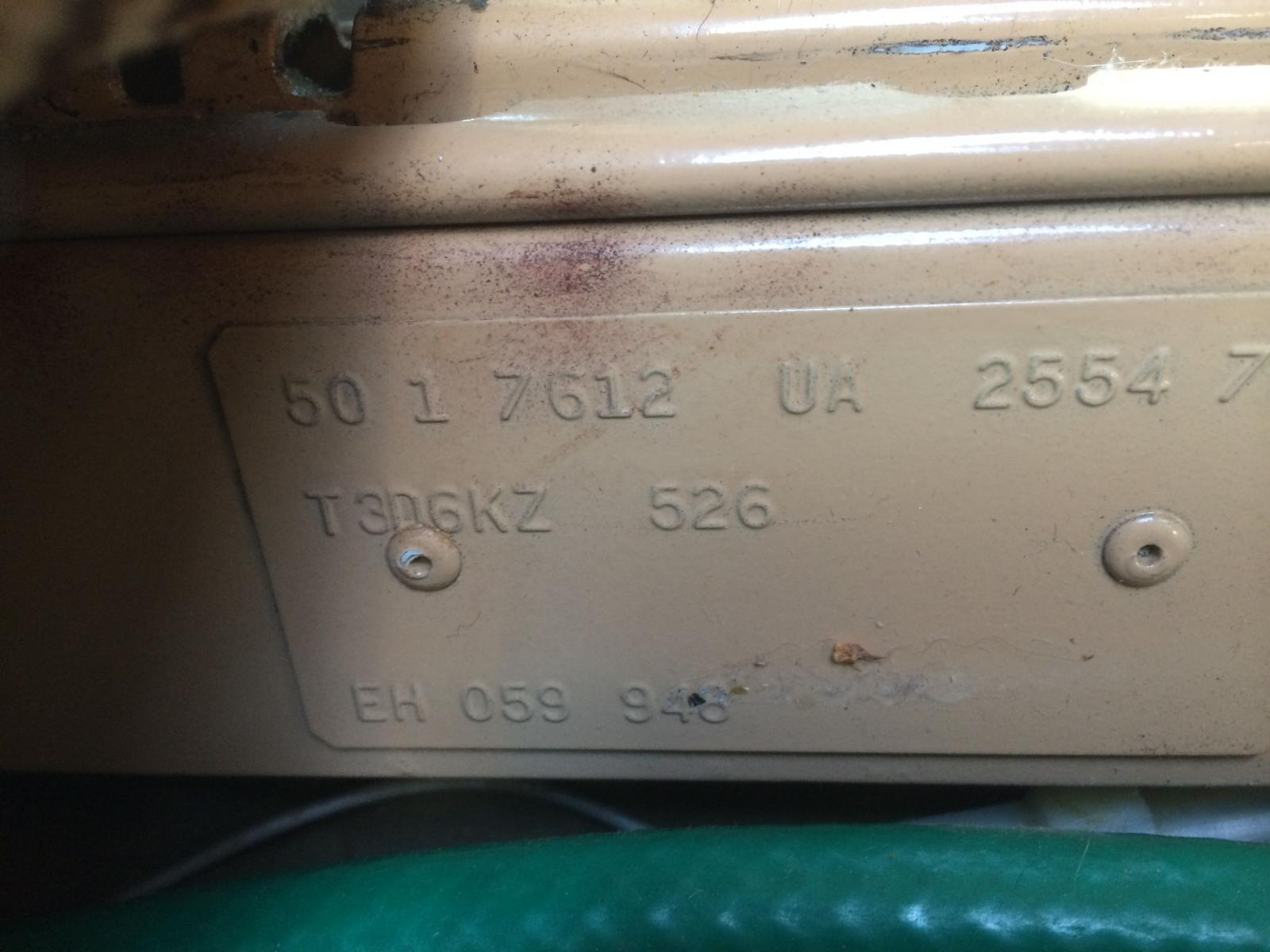 two tone 84 plaque under seat