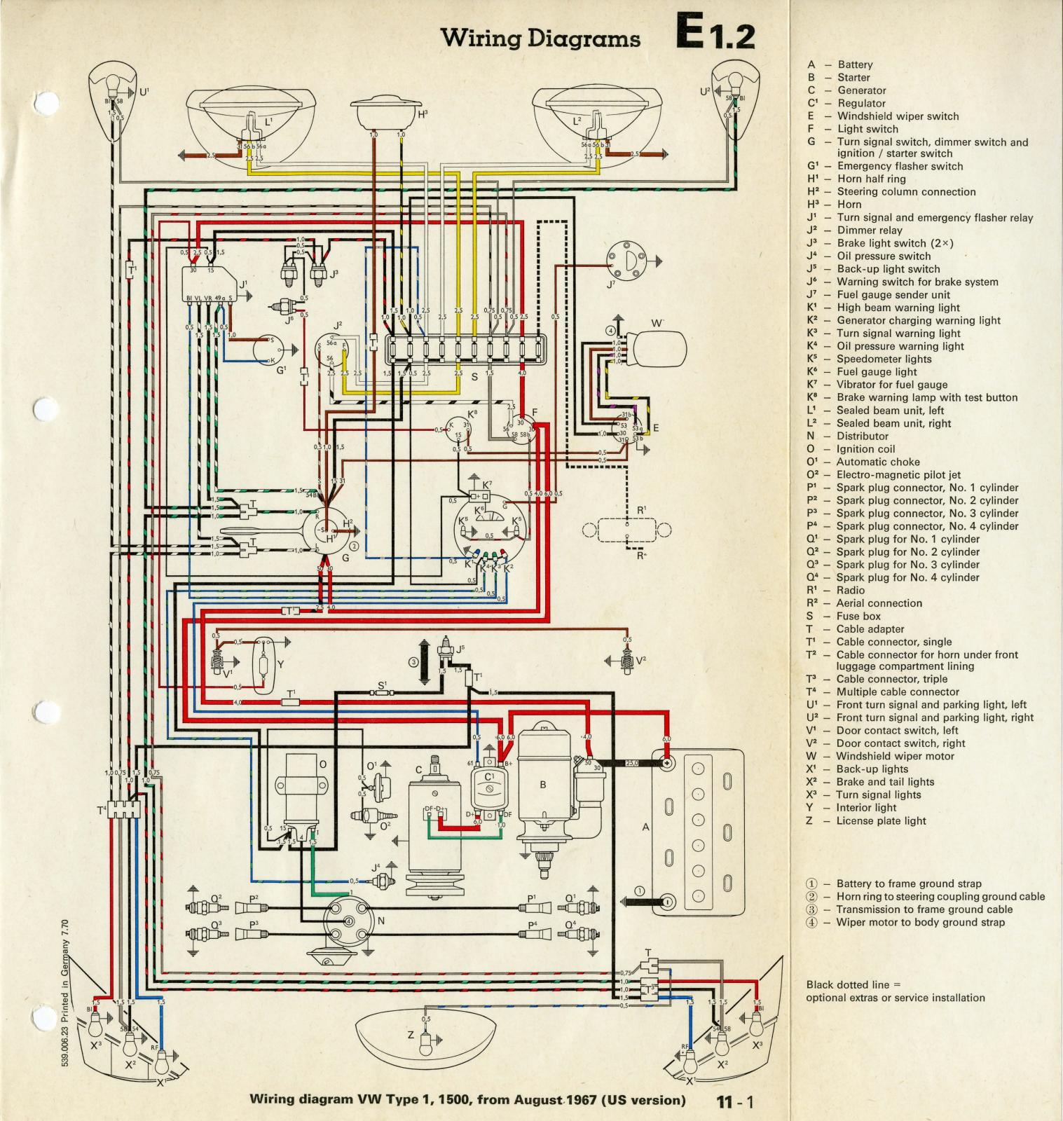beetle wiring diagram for 1975 thesamba.com :: beetle - late model/super - 1968-up - view ...