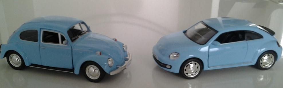 My two Beetles shrink-rayed