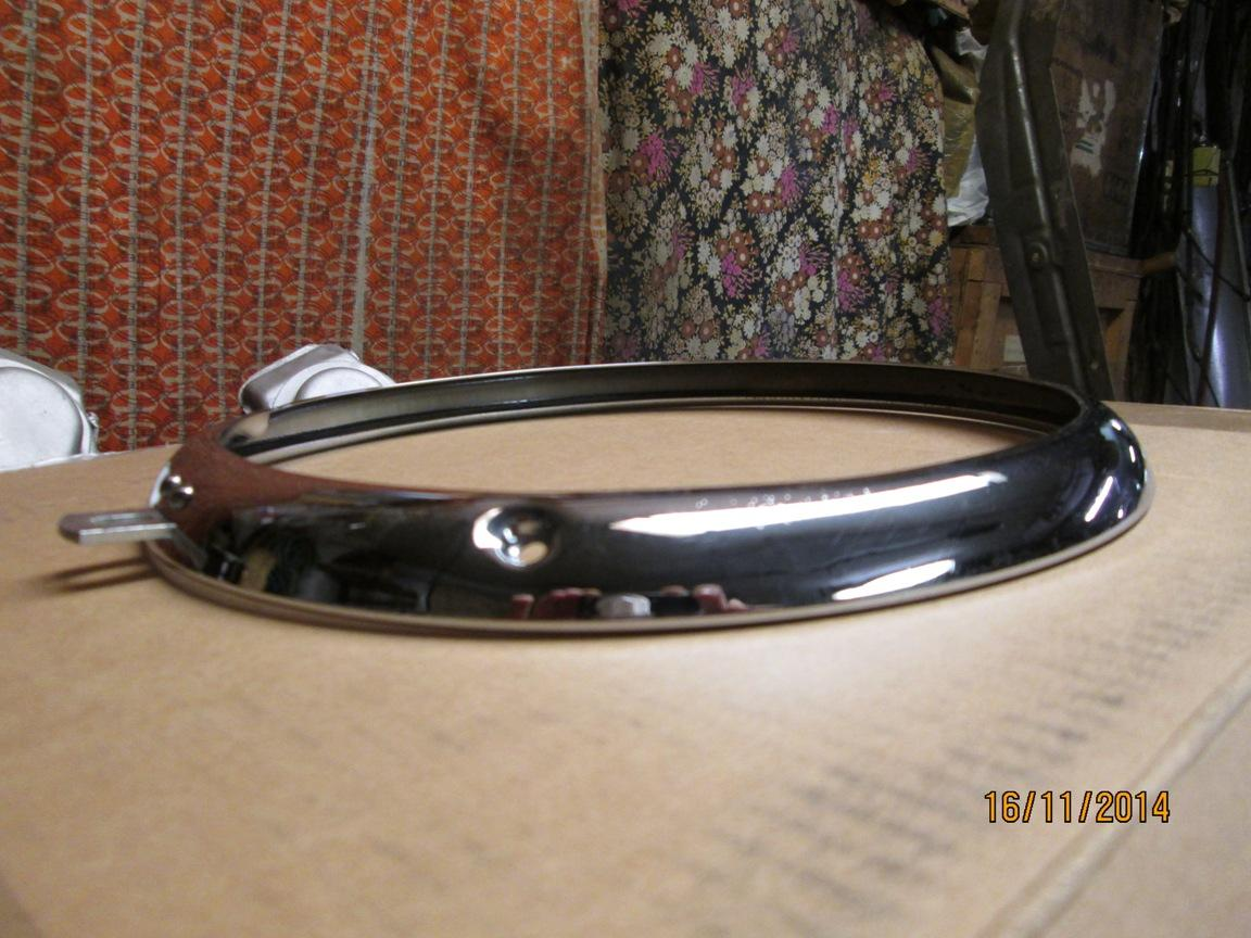 chrome ring after the fixing