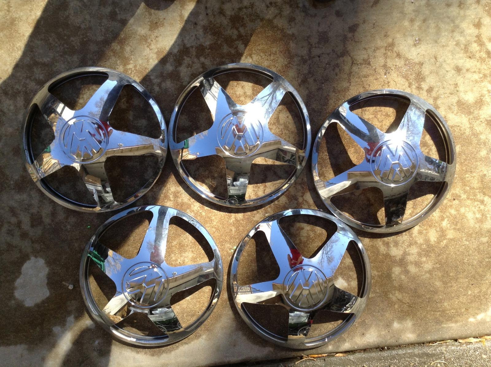 Strange hubcaps found in original VW box in a barn