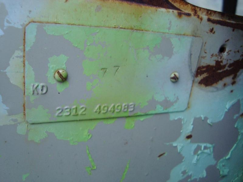 1963 M Code Plate