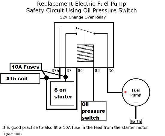 TheSamba.com :: Bay Window Bus - View topic - Could wireing in a fuel pump  relay fry my starter motor?