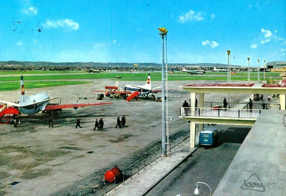 Barndoor at Luqa airport sometime in the past.