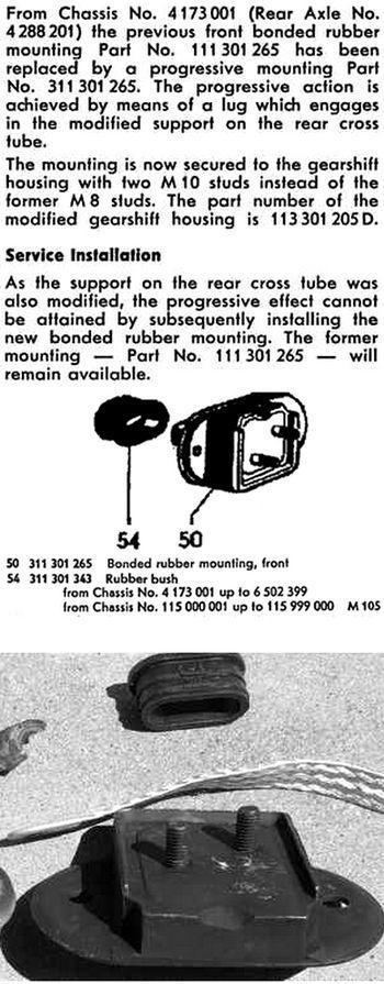 62-65 bug front transaxle mount