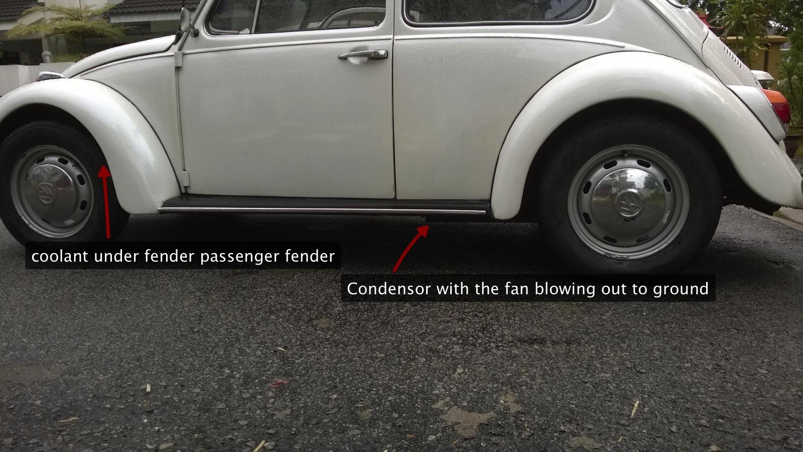 Thesamba Com Beetle Late Model Super 1968 Up View Topic Where To Put Ac Condenser In My 76 Beetle