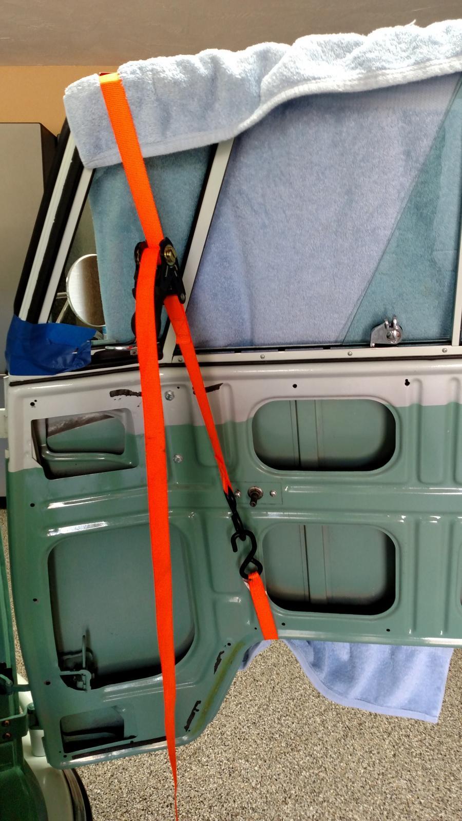Window frame adjustments.