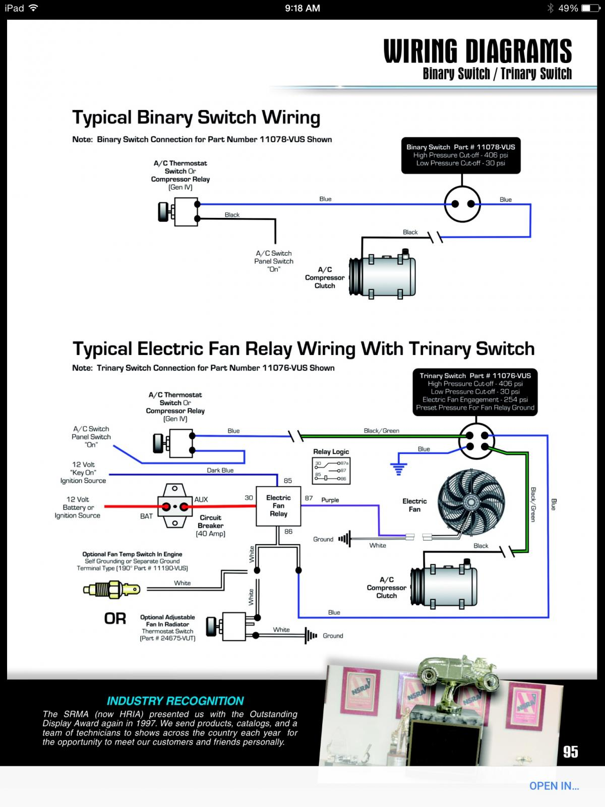ac binary switch wiring diagram online schematic diagram u2022 rh holyoak co Trinary Switch 1560 Normally Closed Trinary Switch Diagram