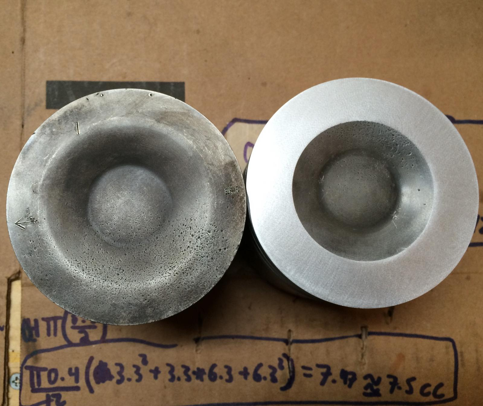 Shaved Pistons