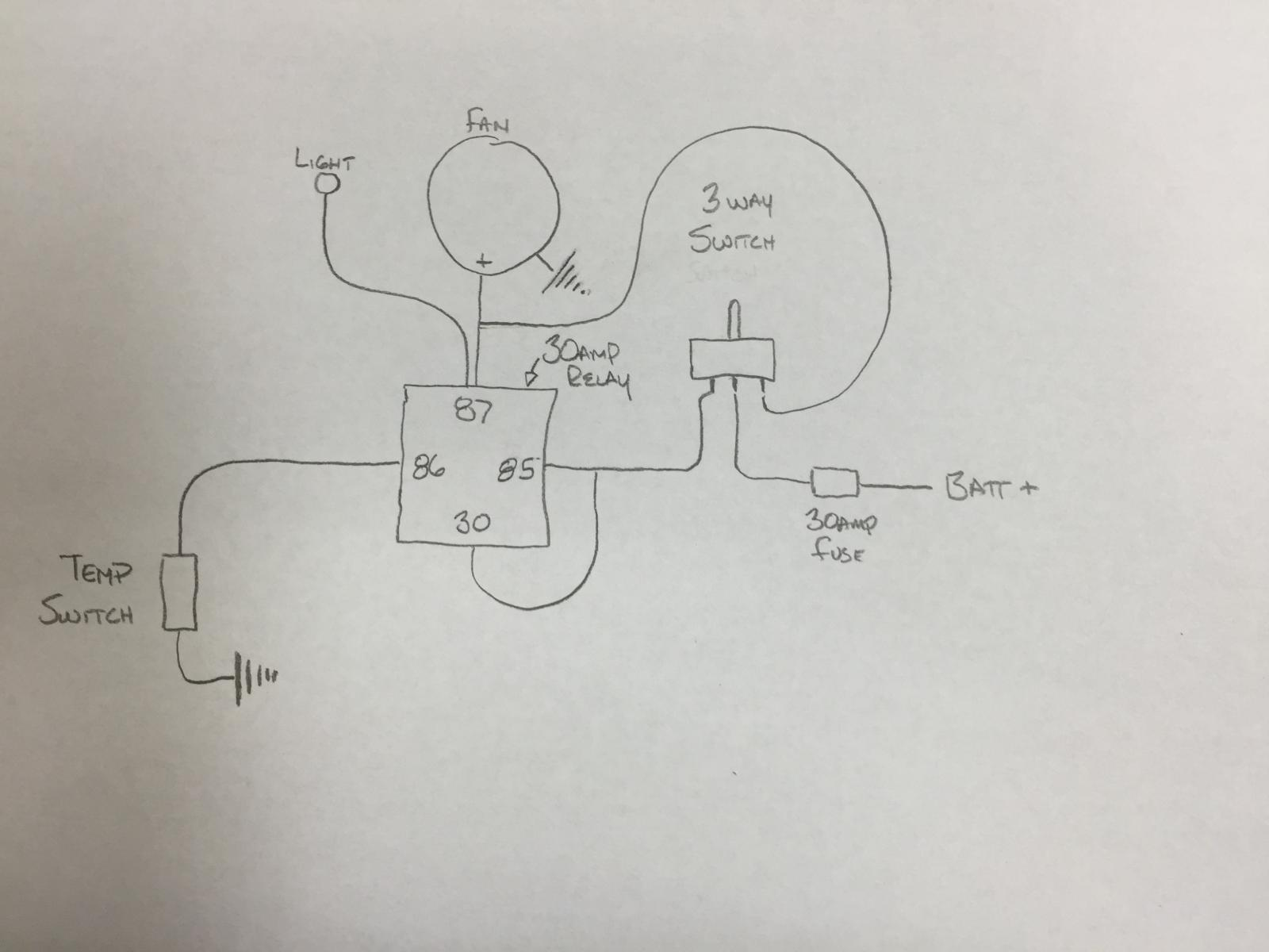 Oil Cooler Fan Wiring Diagram Free For You Evaporative Fuse Box Connection Bass Schematics Swamp Switch