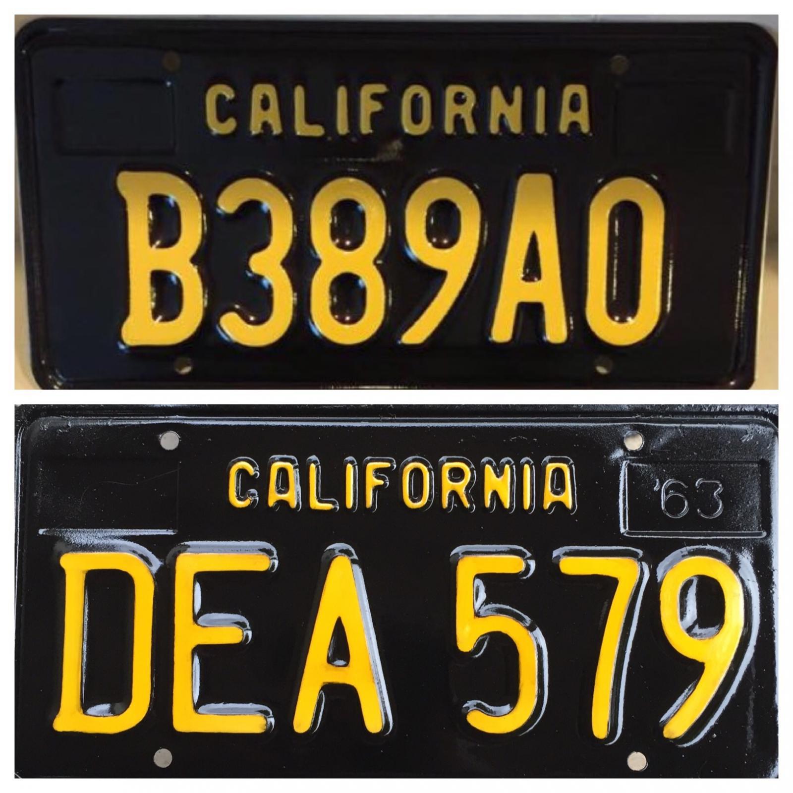 Ca dmv legacy plates