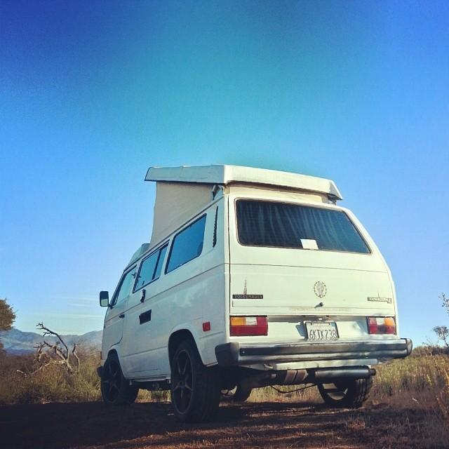 "82 westy with 18"" 996 ultralight porsche wheels"