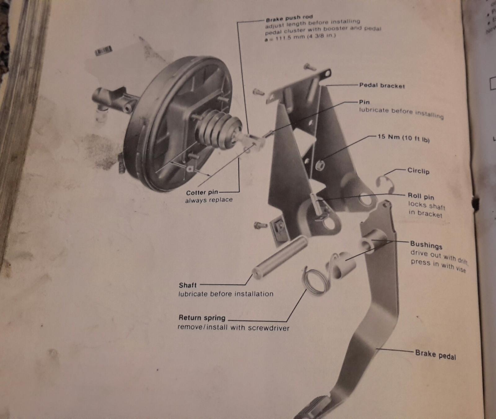 Brake or Clutch Pedal Return Spring