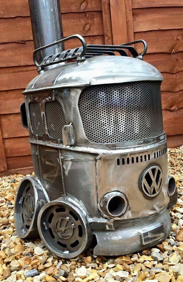 Bay wood stove