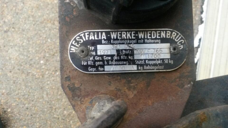 Westfalia hitch