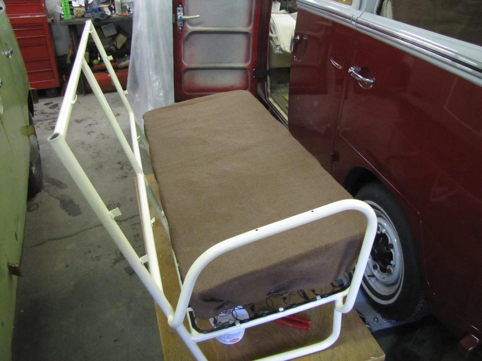 '66-ish bus middle seat restoration