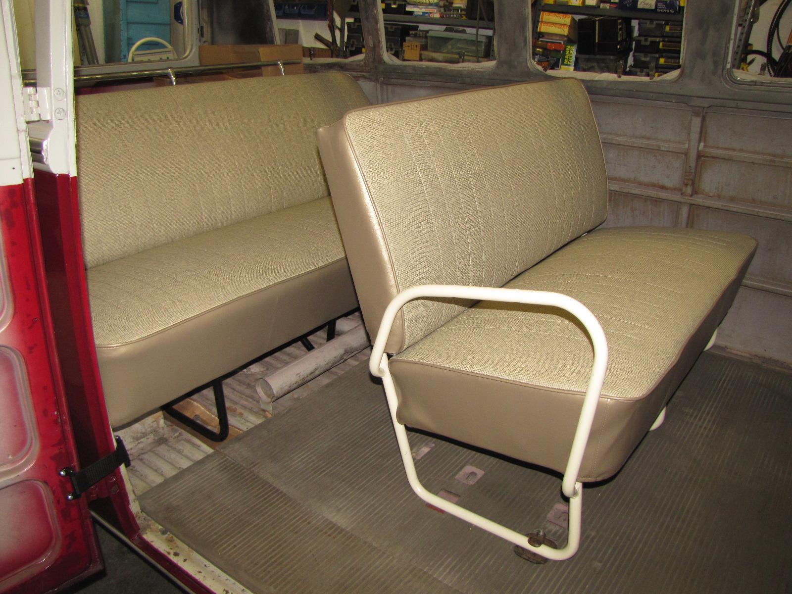 '66-ish bus middle seat restoration