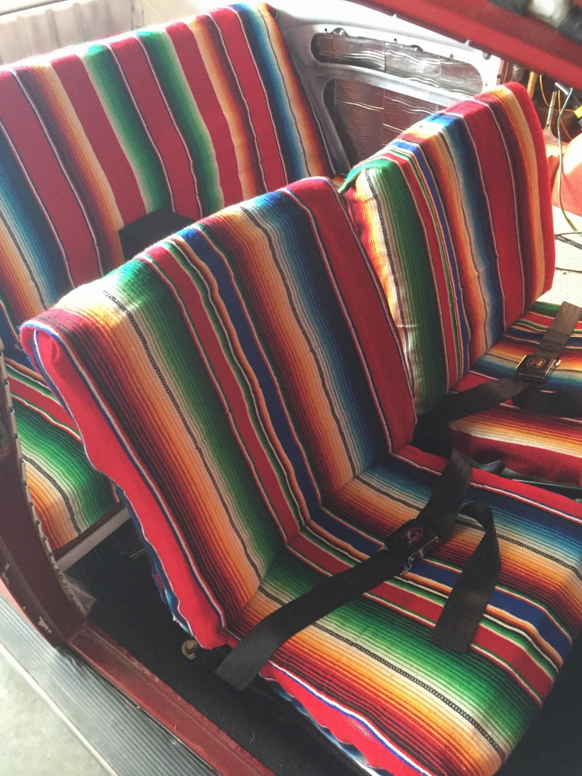Mexican Blanket Seat Covers Vw Bug - Velcromag