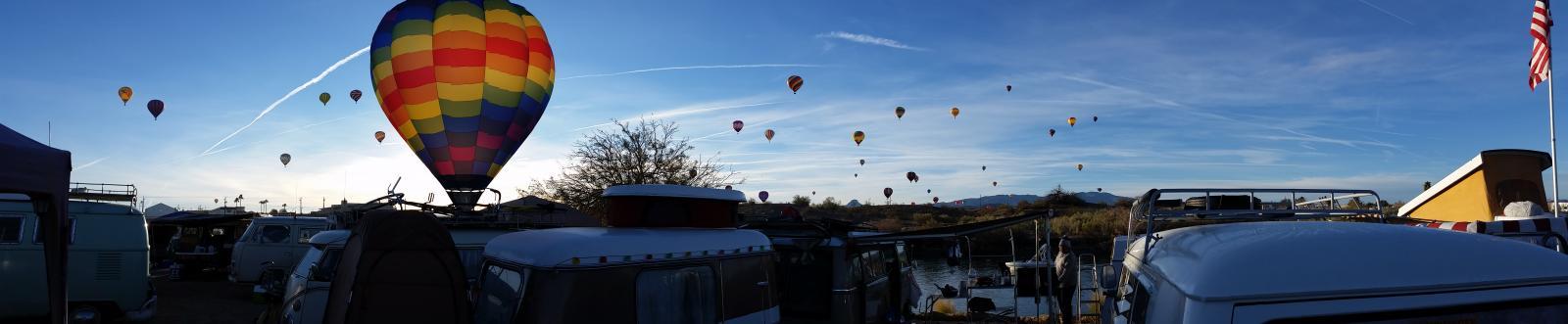 Buses By The Bridge XX balloon photo